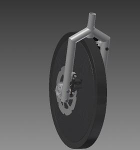 """Stuur & aandrijvingsachterwiel van """"The Umicore Eco-car 2013"""""""