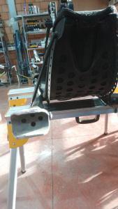 Vervormde achtertrain is verwijderd (uitgezaagd) van de rest vande chassis