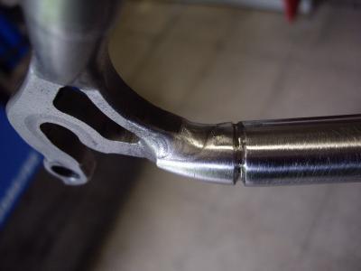 Litespeed Titanium frame voorbereiden vóór het TIG lassen
