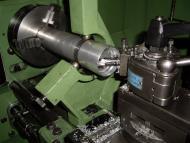 Alumimium kopbuis in legeringskwaliteit AlMgSi05 (6061T6) afdraaien op draaibank EMCO Maximat Super 11