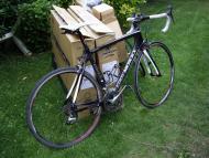 Carbonfiets Eddy MERCKX EMX-1 terug gemonteerd en rijklaar.